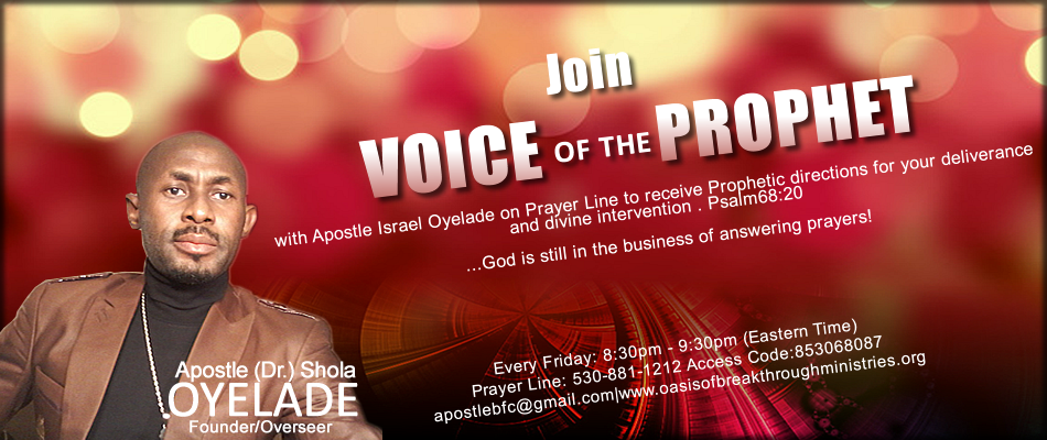 VOICE OF THE PROPHET WITH BABA APOSTLE