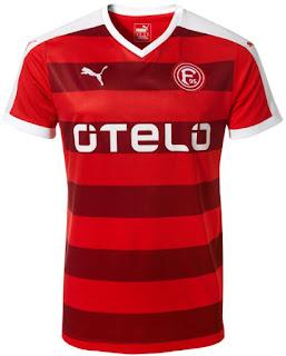 enkosa sport menjual pakaian bola dengan kualitas grade ori made in thailand Jersey Kandang Fortuna Dusseldorf 2015/2016