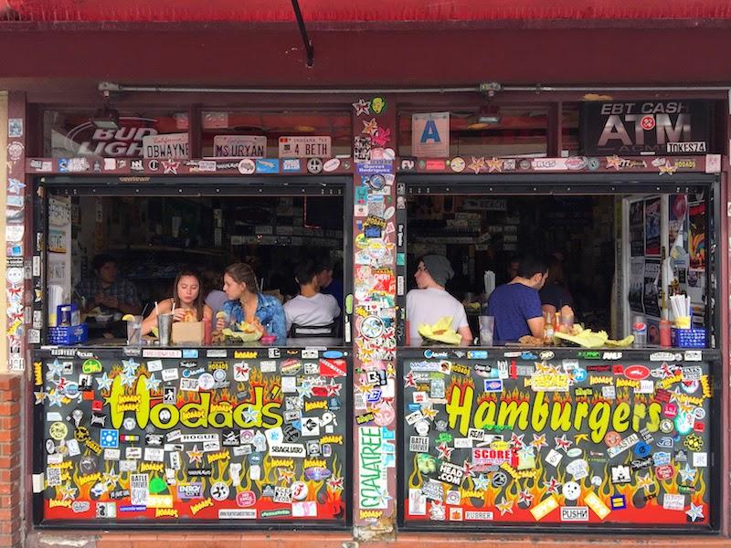 Sidewalk counter at Hodad's