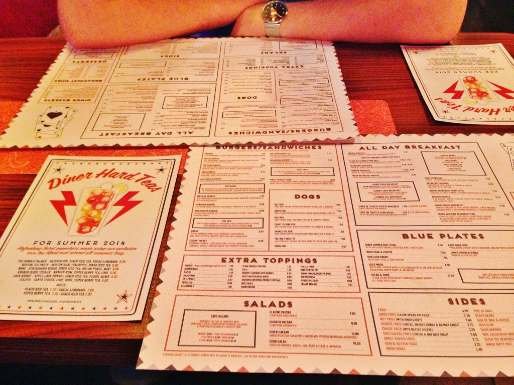 the diner covent garden menu