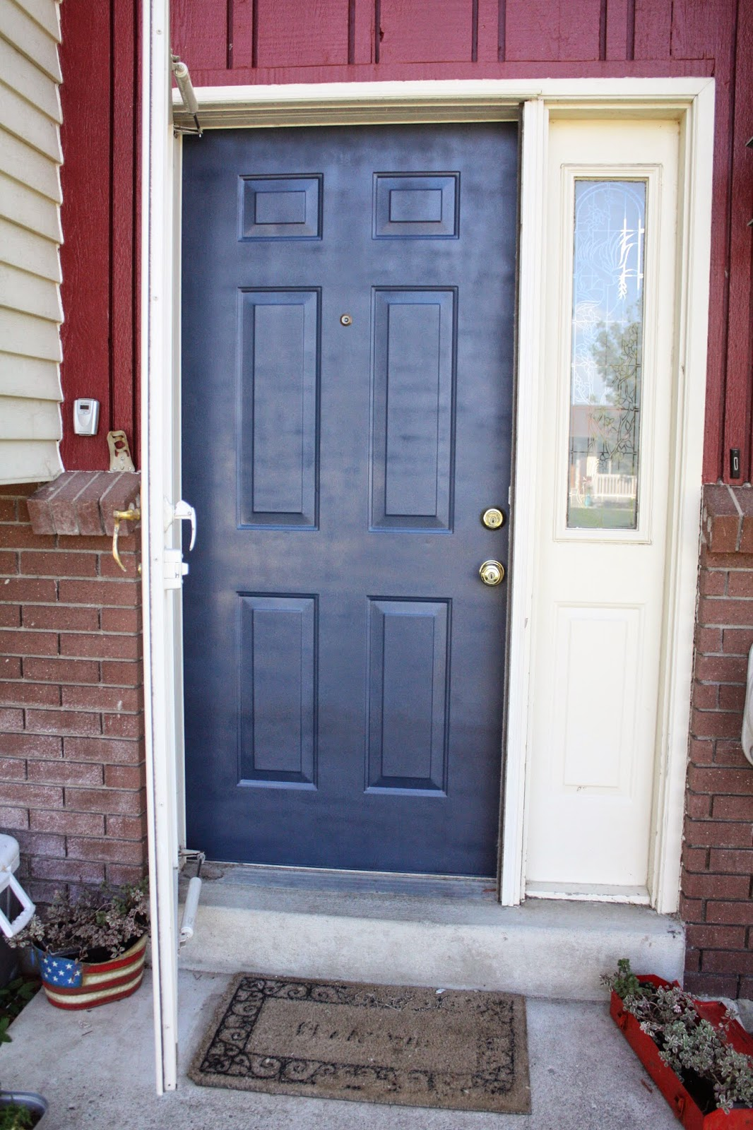 Dark blue front doors - How To Spray Paint A Front Door