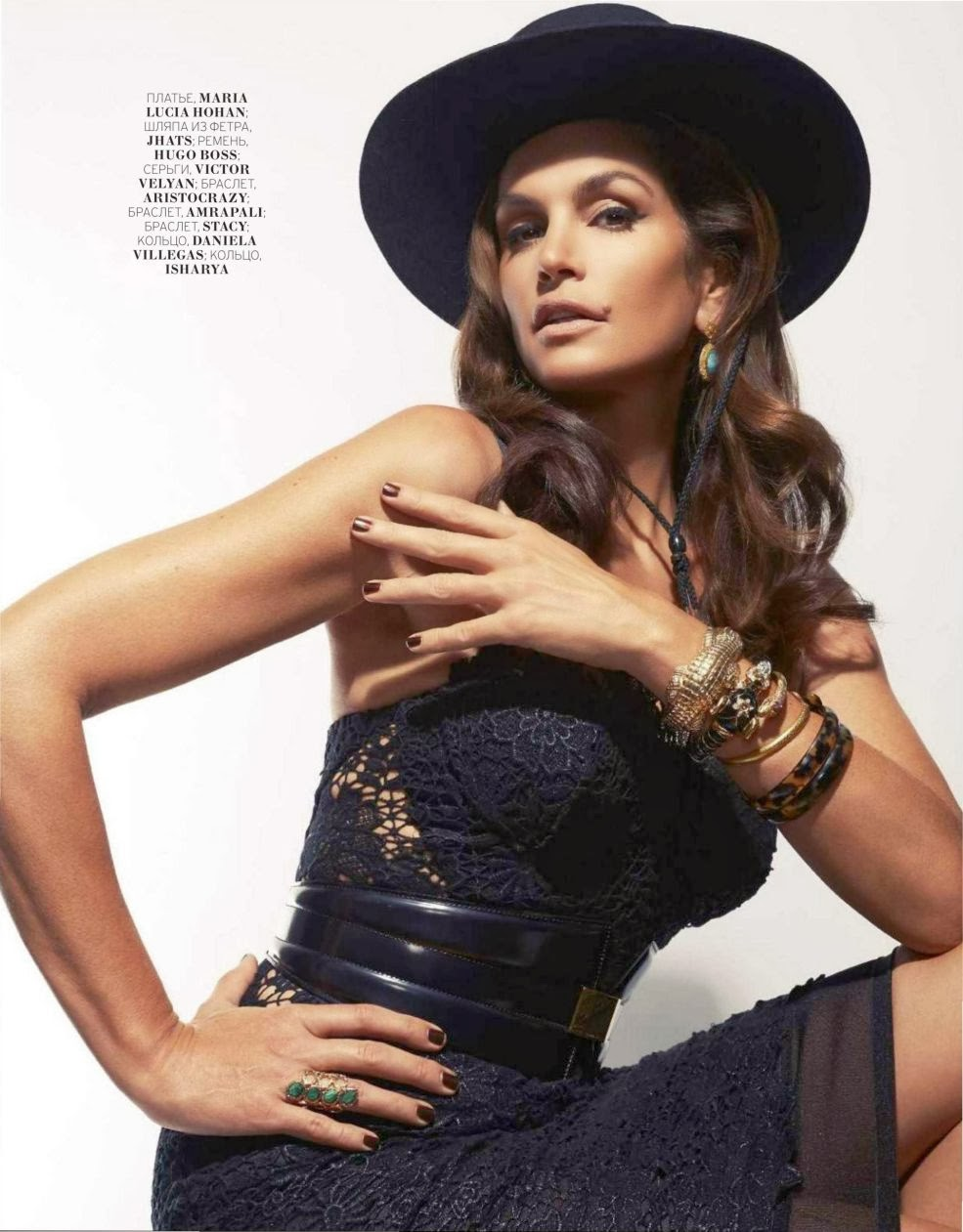 Cindy Crawford HQ Pictures Marie Claire Russia Magazine Photoshoot February 2014