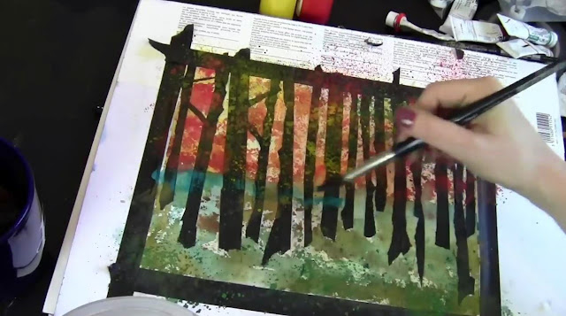 watercolor techniques | how to paint in watercolors | watercolour tips | learn how on http://schulmanart.blogspot.com/2015/11/how-to-paint-easy-watercolor-trees.html