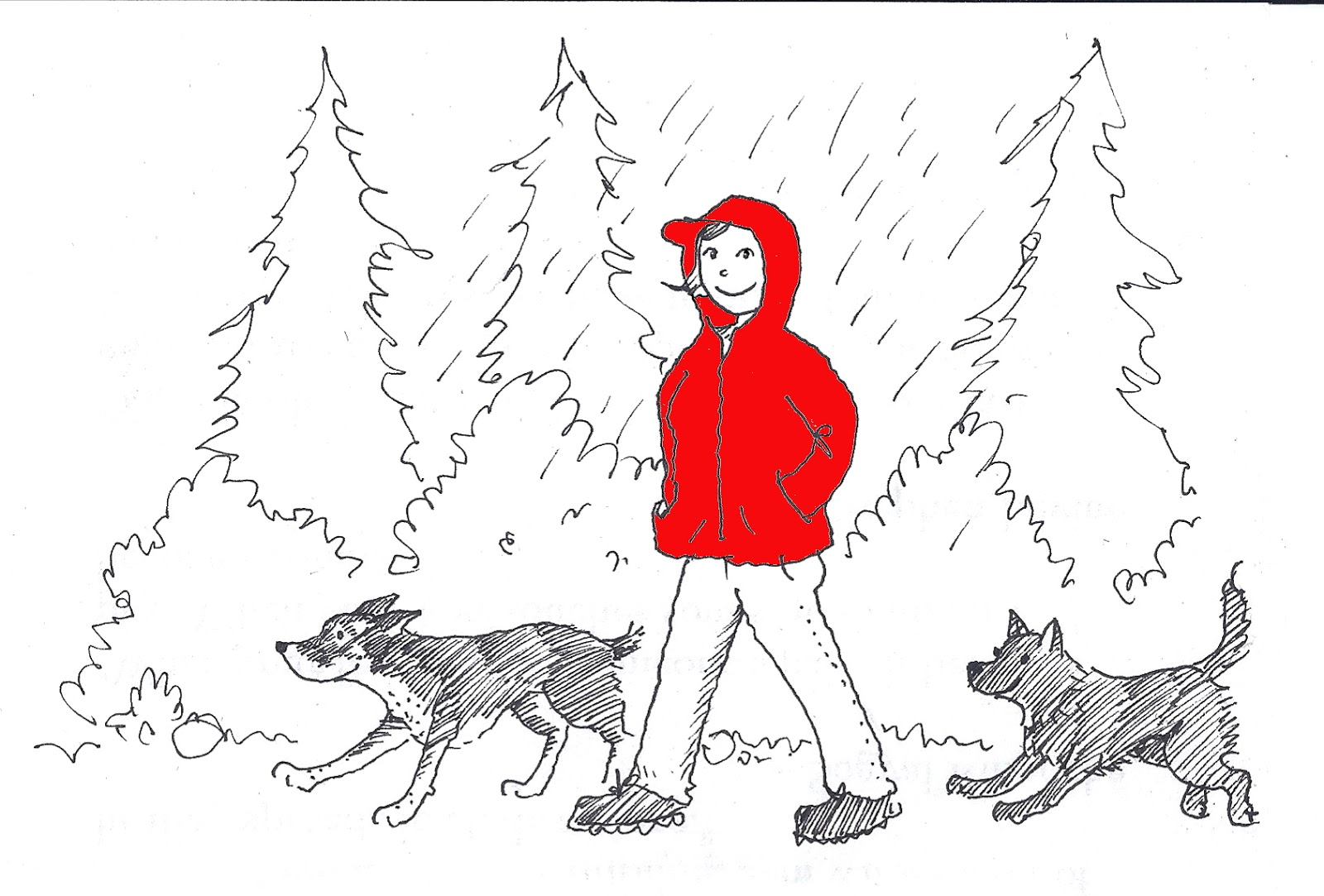 How To Draw A Rainy Day