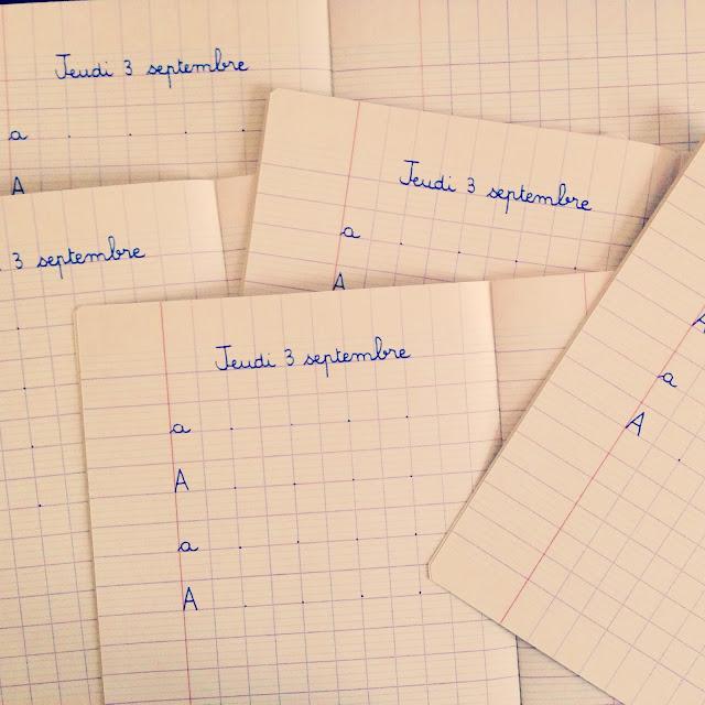 cahier écriture lignes cp  blog maman enfant famille paris instit