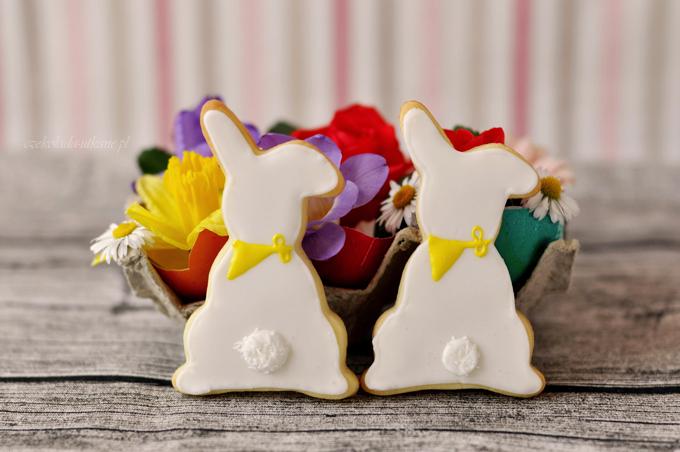 ciasteczka, zajączki, króliczki, dekorowanie lukrem, wielkanoc, święta