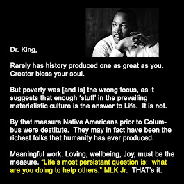 MLK Jr, Poverty wrong focus.