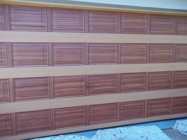 Paint that looks like wood faux wood paint colors real for How to paint a garage door to look like wood