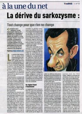 PUBLICATION : VENDREDI HEBDO (FRANCE)
