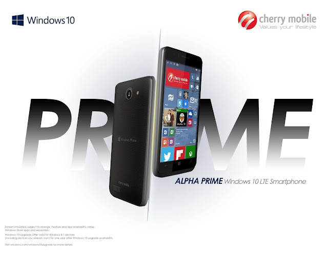 Cherry Mobile Alpha Prime Series Introduced in Computex, First Windows 10 Smartphone in the Philippines