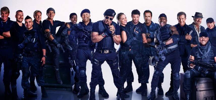 Mais ação no comercial estendido de Os Mercenários 3, com Sylvester Stallone, Jason Statham e Mel Gibson