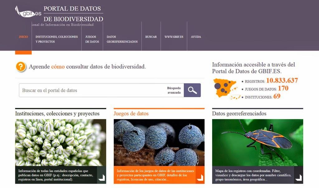 Portal de datos de biodiversidad. gbif.es