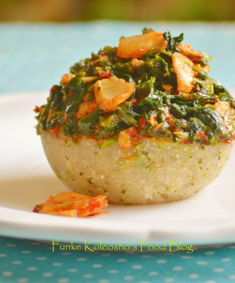 Veggie swallow garieba funke koleoshos new nigerian cuisine veggie swallow garieba forumfinder Gallery