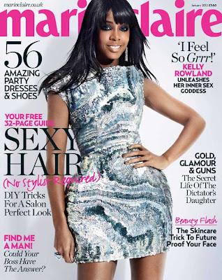 Kelly Rowland en couv' de Marie Claire UK