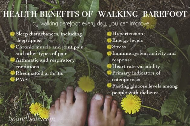 health benifits of earthing foot