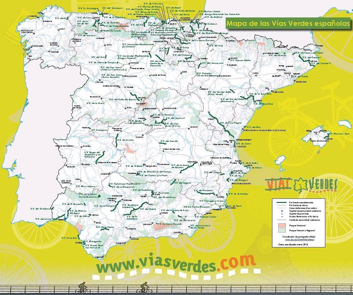 Vías Verdes españolas 2016