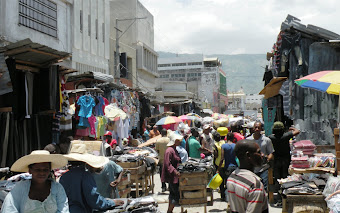 Strolling thru the Iron Market, Haiti