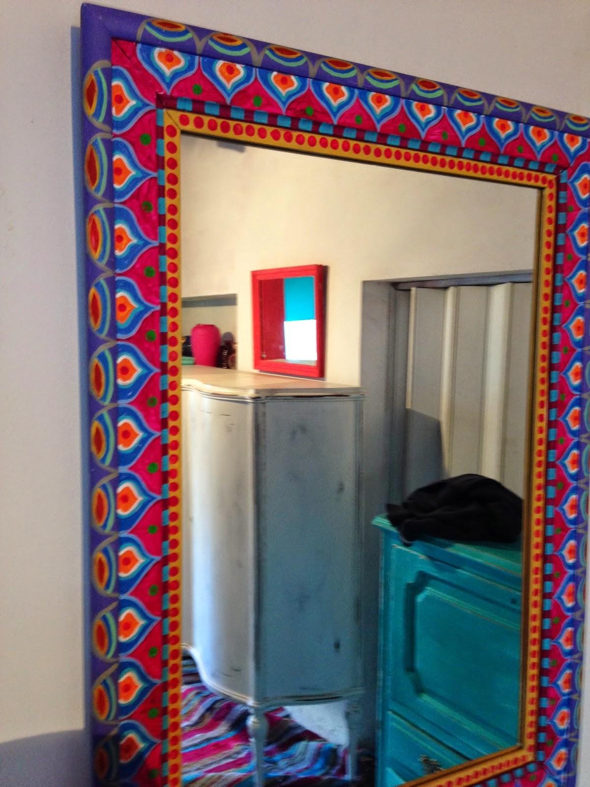 Vintouch muebles reciclados pintados a mano espejo for Muebles pintados a mano