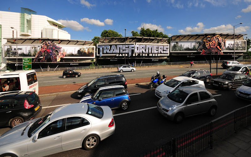 Transformers 3 billboards Cromwell Rd London
