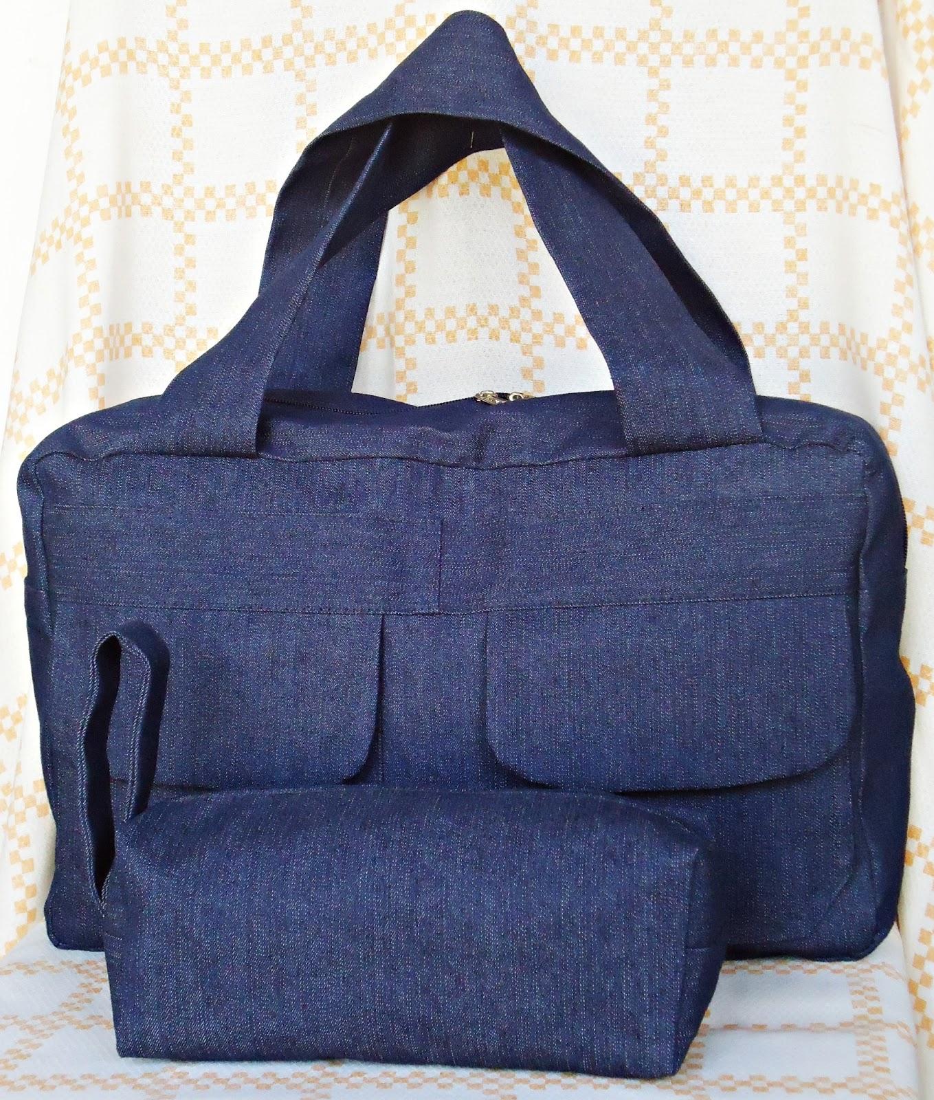 Bolsa De Tecido Jeans Passo A Passo : A modista bolsas artesanais bolsa maleta em jeans