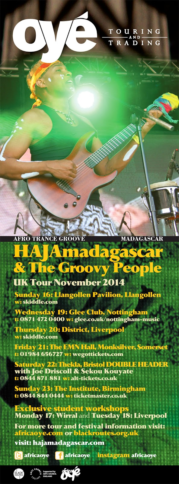 Africa Oye HAJAmadagascar debut UK tour