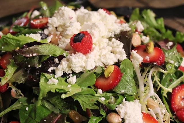 Mixed greens salad at Bee's Knees Supply Company