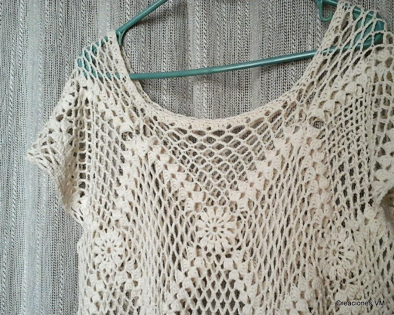 Remerón tejido a crochet