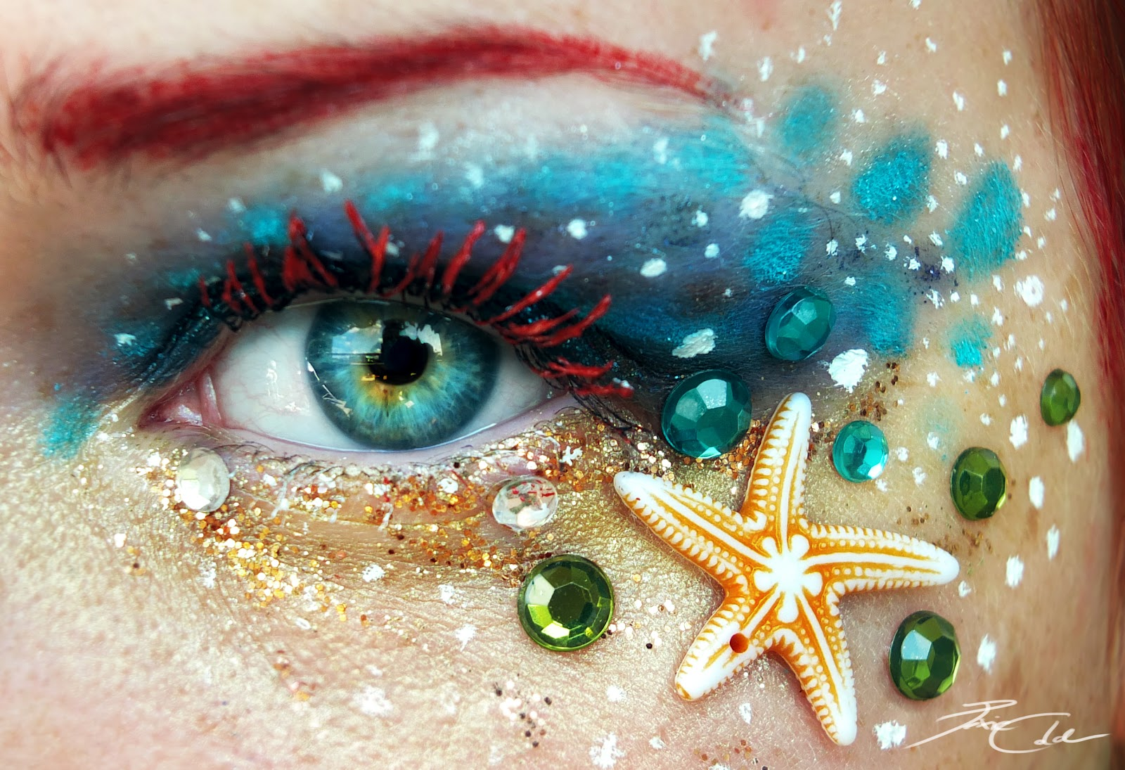 Eye Art Design : All the girly things amazingly intricate eye makeup