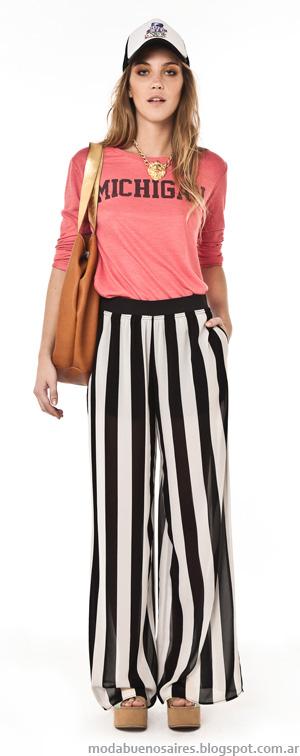 Pantalones de verano 2014 Inversa ropa de mujer verano 2014.