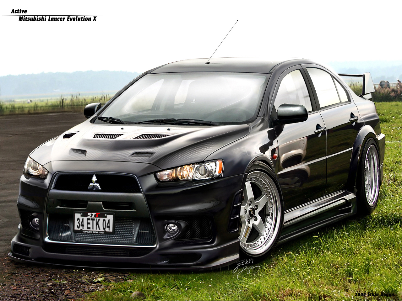 mitsubishi evo x wallpaper hd free download wallpaper dawallpaperz. Black Bedroom Furniture Sets. Home Design Ideas