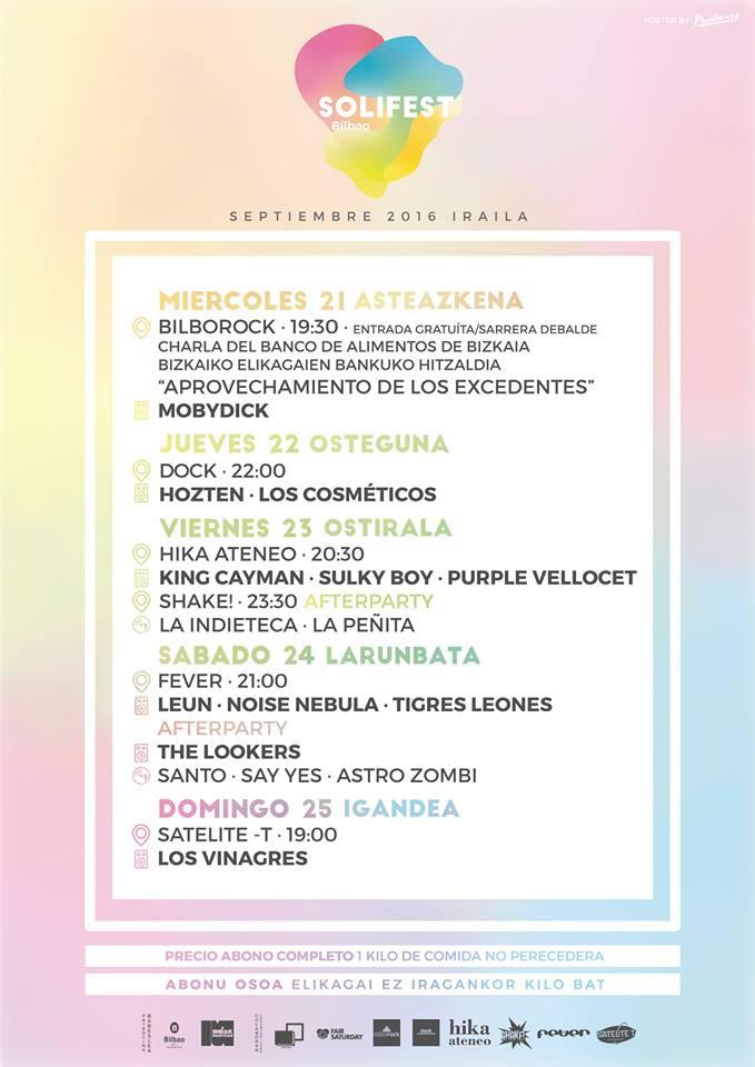 RECOMENDACIÓN!!! - 21-25/09/16<br> Solifest - Bilbao