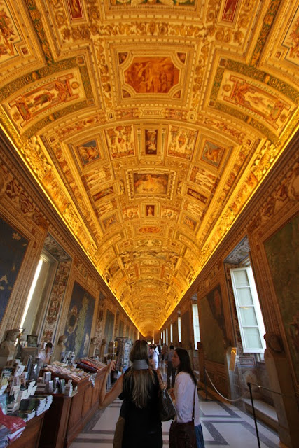 The Gallery of Maps in Galleria Delle Carte in Musei Vaticani (Vatican Museum) in Vatican City, Rome, Italy