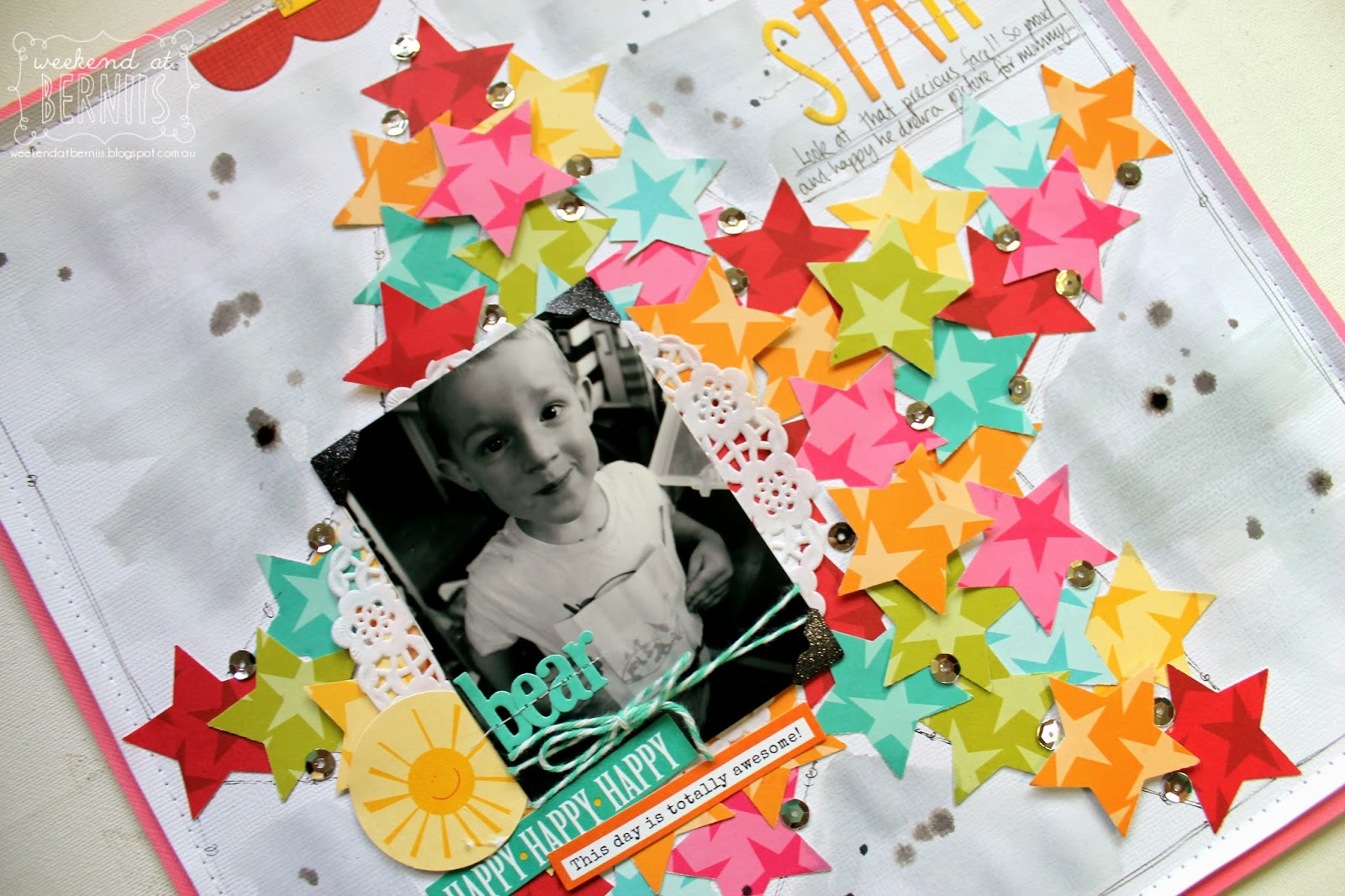 My star layout by Bernii Miller using Bella Blvd papers.