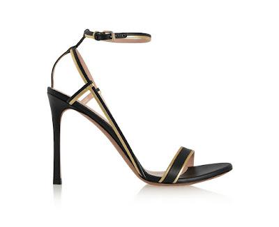 Valentino Barely there black stiletto heels
