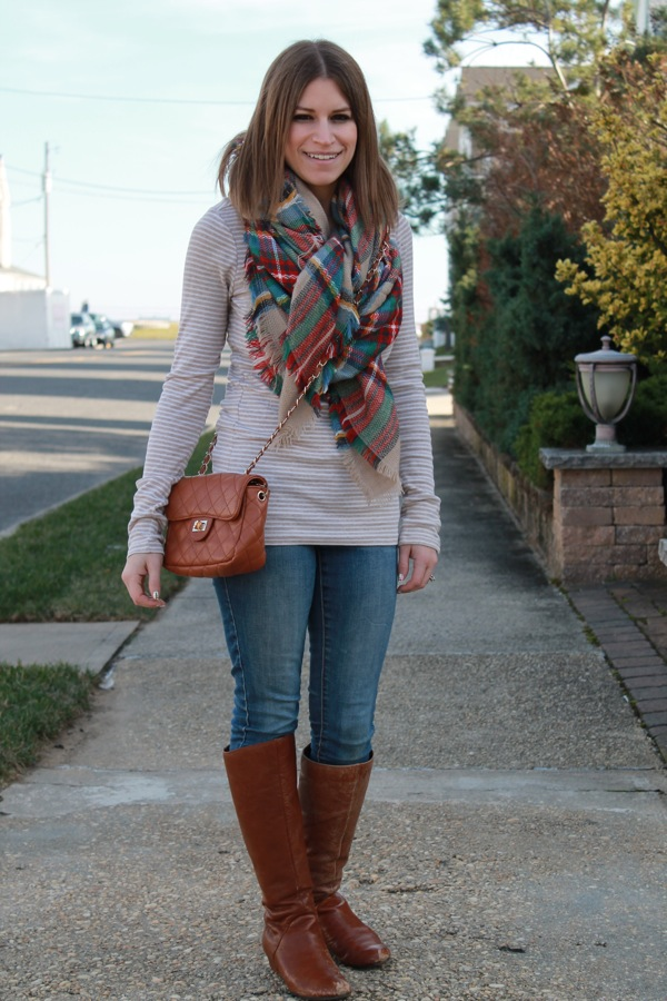 The Tiny Heart: Blanket Scarf Outfit