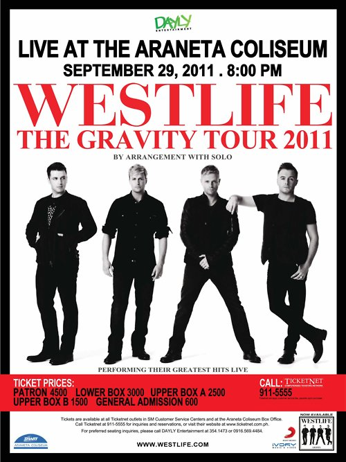 Westlife, SMART Araneta Colesium, Ticket Prices, image, wallpaper, photos