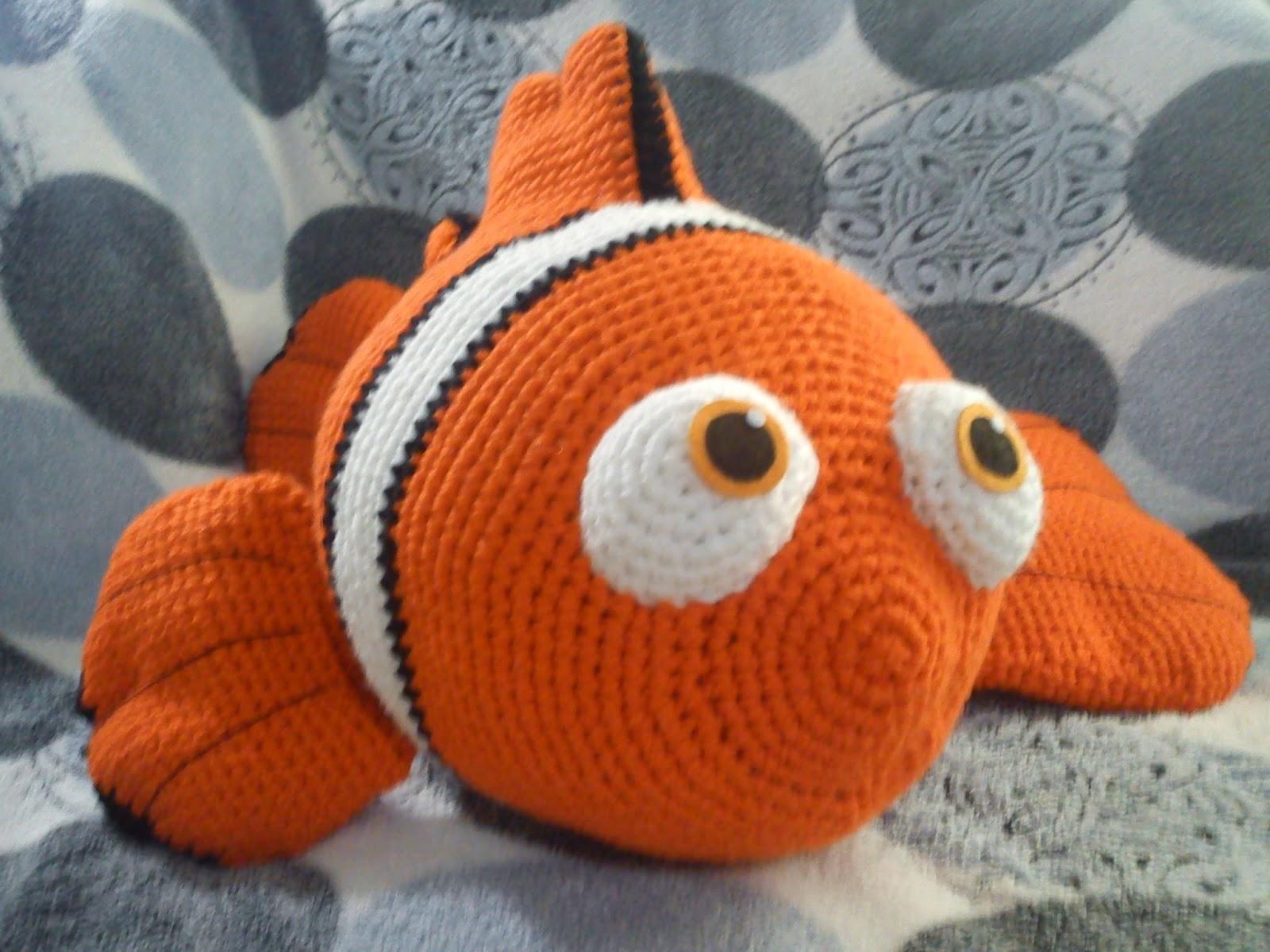 Рыбка немо амигуруми схема