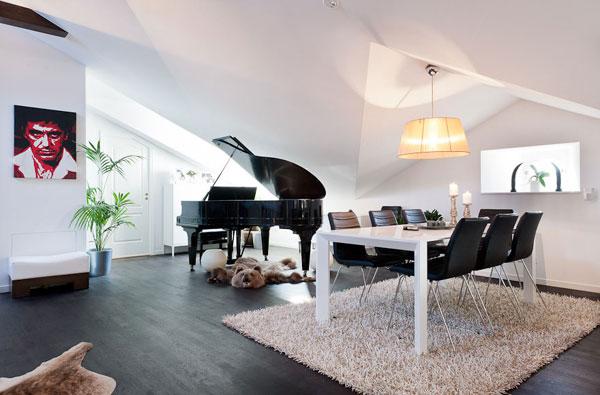 decoracao de interiores sotaos:Attic Music Room Design