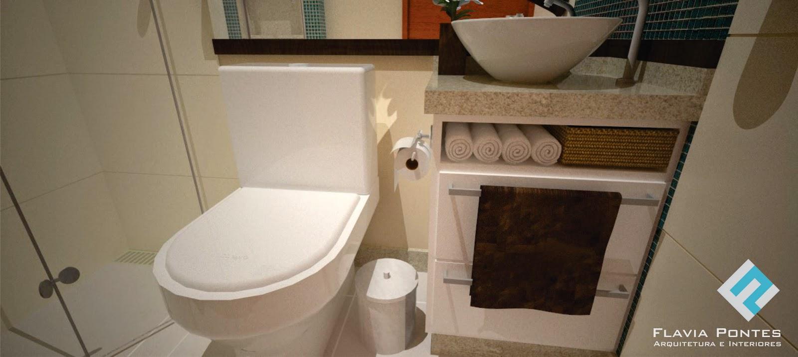Flavia Pontes Arquitetura Fevereiro 2015 -> Nicho Banheiro Parede Estrutural