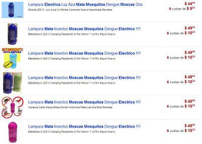 mata mosquitos electrico precios