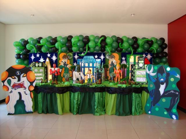 Decoraciones de fiesta infantiles de ben 10 - Imagui