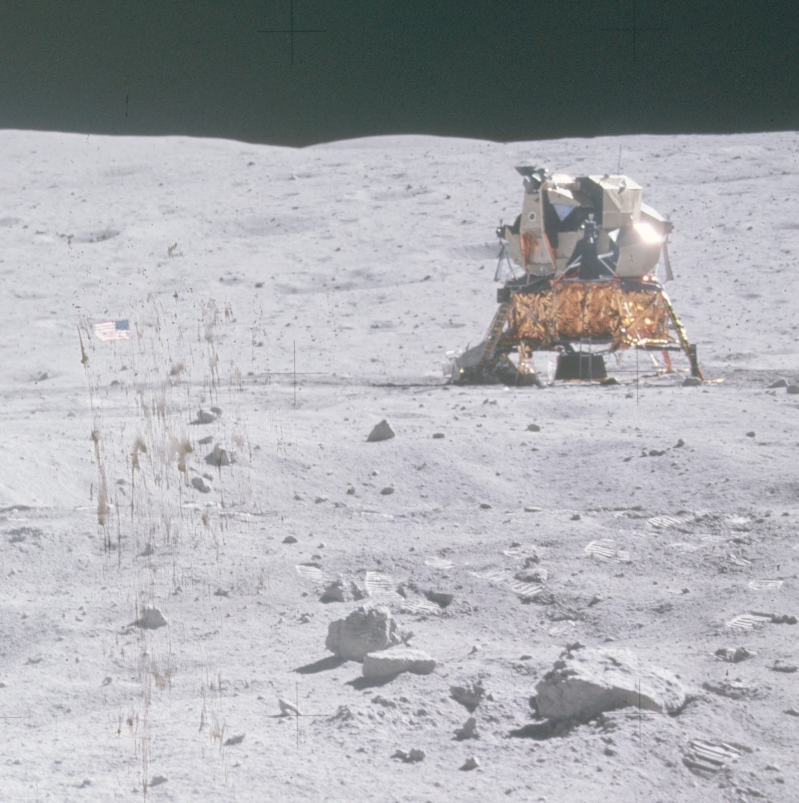 Apollo 16 picture with