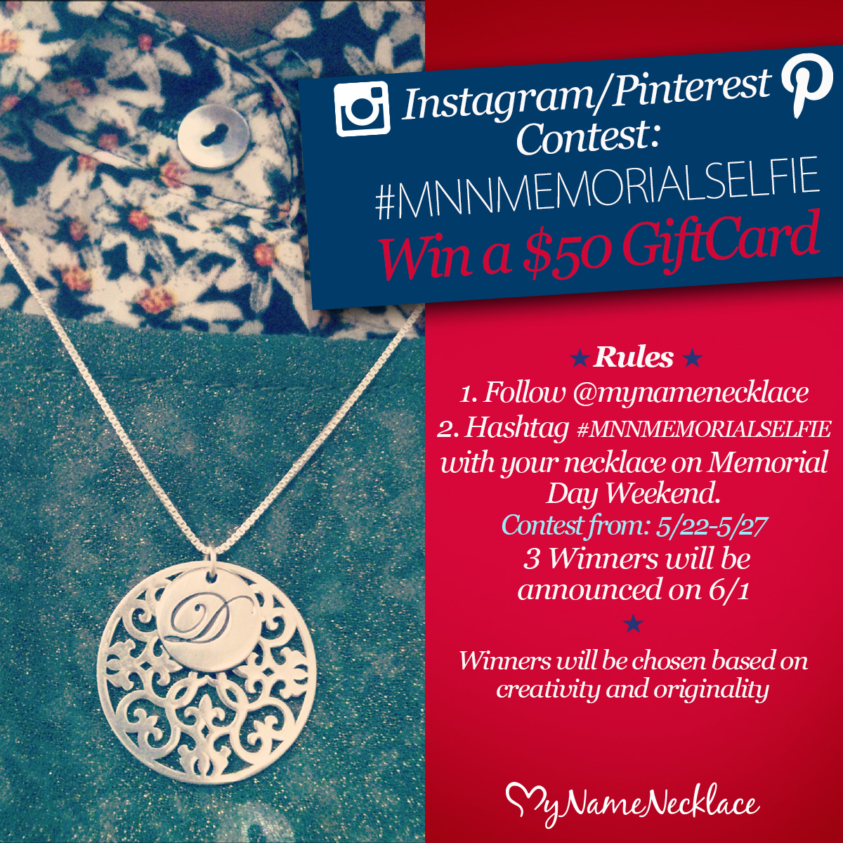 Instagram/Pinterest Memorial Day Contest