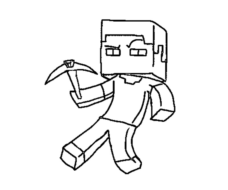 Free Coloring Pages Of Minecraft House
