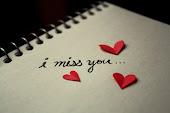Sinto sua falta.