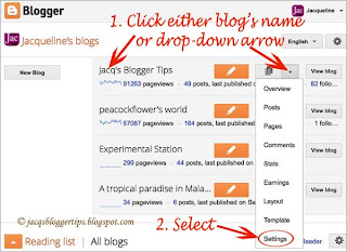 Screenshot to illustrate how to enable Threaded Comments on Blogger - Step 2