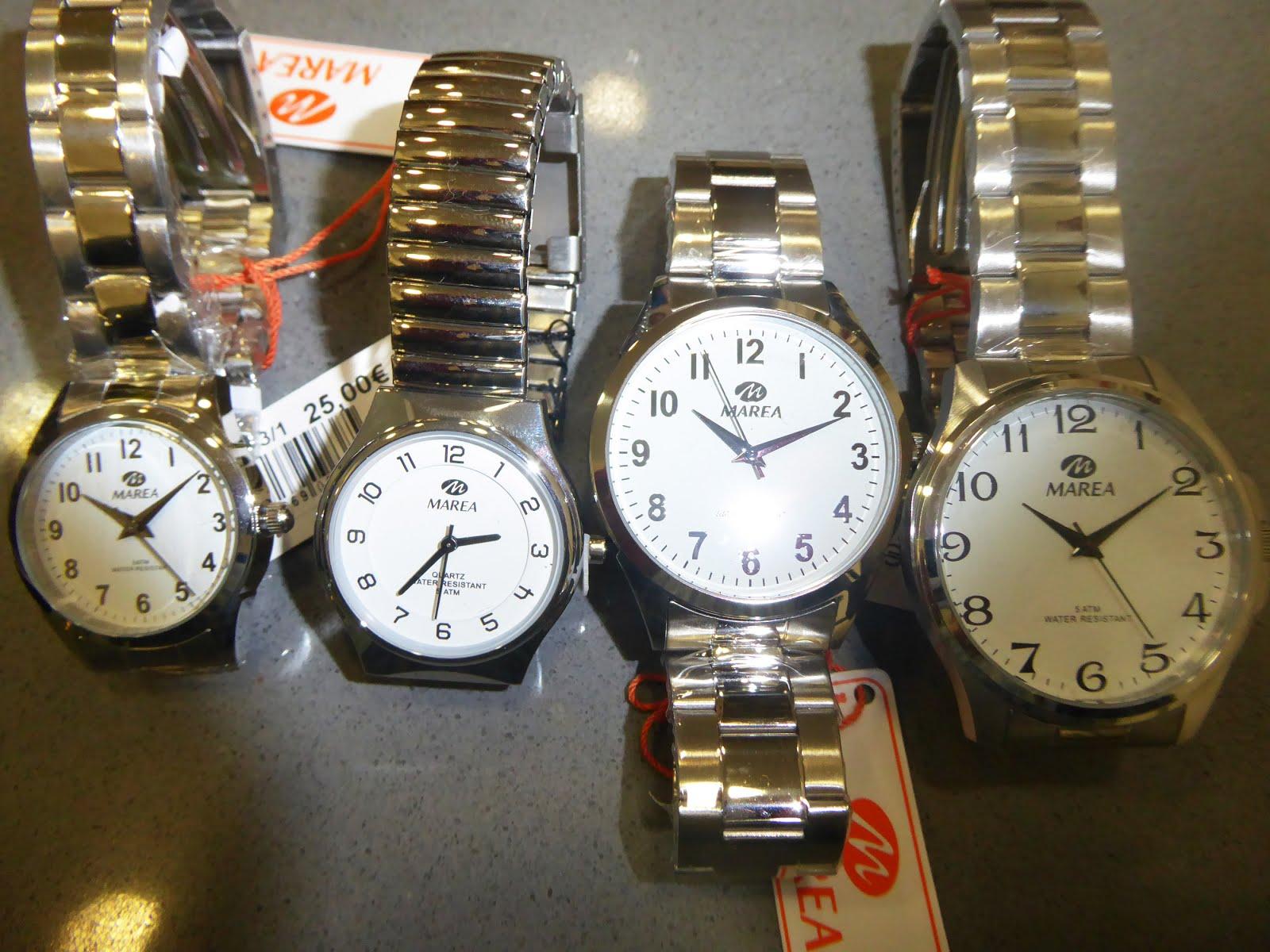 Relojes Marea acero, señora y caballero
