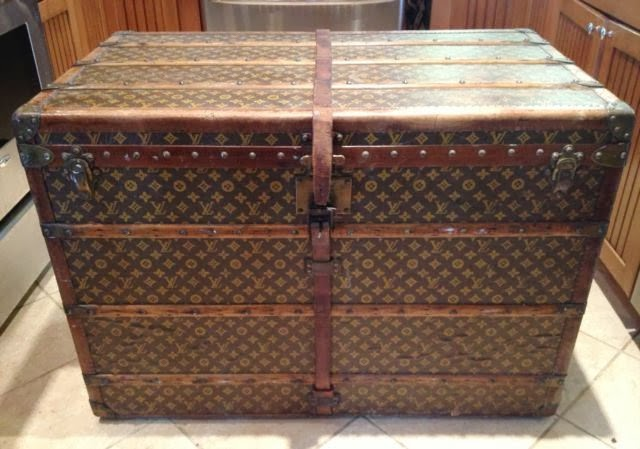 Louis Vuitton Antique Travel Steamer Trunk