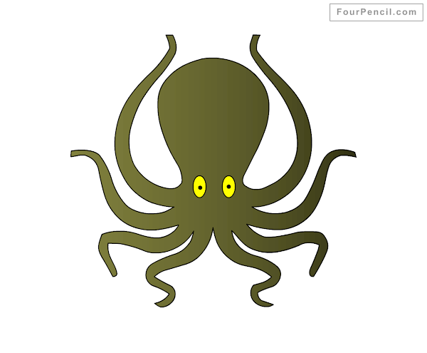 Fpencil How To Draw Octopus For Kids Step By Step
