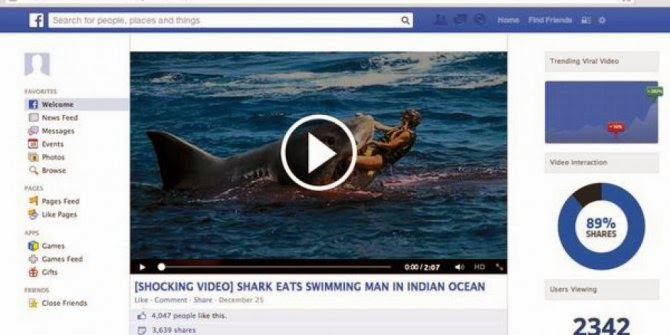 """JANGAN KLIK LINK VIDEO """"Shark Eats the Swimming Man in Ocean"""" DI FACEBOOK"""